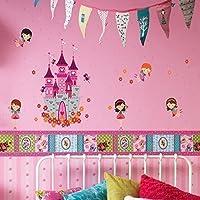 Walplus - Adhesivos decorativos de pared, diseño de castillo y princesas