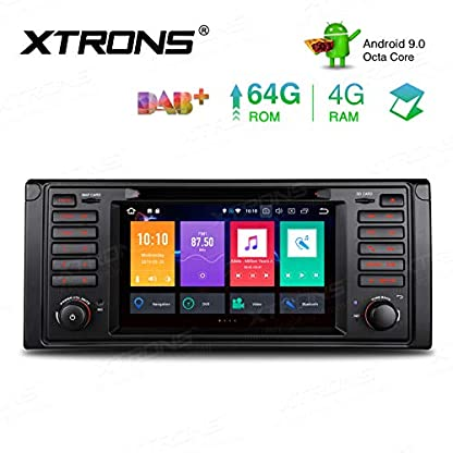 XTRONS-7-Android-4GB-RAM-64GB-ROM-Octa-Core-Autoradio-mit-Touch-Screen-Android-90-DVD-Player-untersttzt-4G-WiFi-Bluetooth-DAB-OBD2-CAR-Auto-Play-TPMS-Musik-Streaming-FR-BMW-E39
