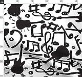 Gitarre, Musik, Notizen, Töne Stoffe - Individuell
