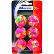 Donic-Schildkröt Multicolour Popps Confezione di 6 Palline per Tennis Tavolo, Multicolore