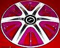 J-Tec 4 Maximus Factory-RADKAPPEN Weiss-Pink-Carbon Silber -15 Zoll-Neu-Top