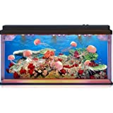 Moving Jelly Fish Tank with LED lights, 3D backing - STUNNING! Fantastic gift!