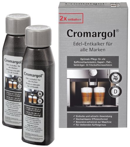 Croma Rgol Premium Descaler Kit for Fully Automated Coffee Machine and Coffee Machines, 2 x 100 ml 1407199990 by Cromargol (100 Amp Kit)