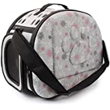 SRI High Quality Fashionable Travel Pet Storage Fold Able Pet Carrier Bag for Cat and Puppy, Grey (Small)