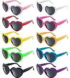 FSMILING Set Occhiali da Sole Festa a Forma di Cuore per Bambini Adulti (multicolore)