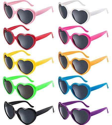 Fsmiling Colori al Neon Occhiali da Sole Retr/ò Vintage per Donne Uomo Festa e Festival