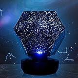 Lixada Lampada da Notte de Cielo Stellato Lampada Proiettore Galassia Cosmica per Bambini Camera da Letto Constellation Projection Planetario Domestico