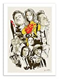 Affiche - Art - 50 x 70 cm - Tarantino - Fan-art Films - Pulp Fiction - Kill Bill