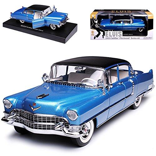 Greenlight Cadilac Fleetwood Serie 60 Limousine Blau Elvis Presley 1955 1/18 Modell Auto