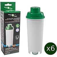 6 x FilterLogic CFL-950B - Filtro de agua para cafetera automática de DeLonghi reemplaza el cartucho DLS C002 / DLSC002 / SER 3017 / SER3017 / 5513292811 con Máquina de café ECAM ESAM ETAM EC680 BCO