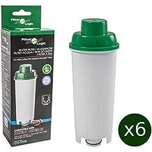 6 x FilterLogic CFL-950B - cartuccia filtrante / filtro acqua per macchine da caffè De'Longhi / DeLonghi - sostituisce DLS C002 / DLSC002 / SER3017 / 5513292811 per modelli ECAM ESAM ETAM EC680 BCO