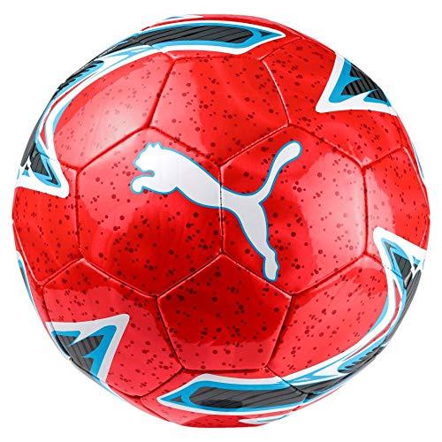 PUMA One Laser Ball Fußball, Red Blast-Bleu Azur White, 5 (Puma Fußball Ball)