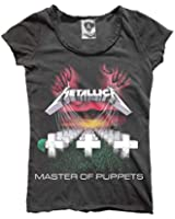 Amplified - Damen T-Shirt Metallica Master of Puppets Vintage Look (Grau) (S-L)