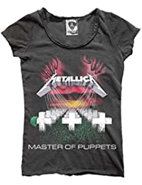 Amplified - Damen T-Shirt Metallica Master of Puppets Vintage Look (Grau) (S-L)