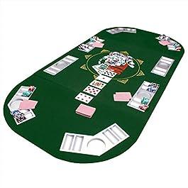 Pieghevole Tavolo da Poker Pad da Tavolo da Poker Pad da Tavolo da Poker da Tavolo da Casinò Pad 160 x 80 cm