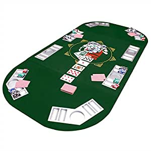 Goods & Gadgets Faltbare Pokertischauflage Poker Tischauflage Pokertisch Casino Pokerauflage 160 x 80 cm