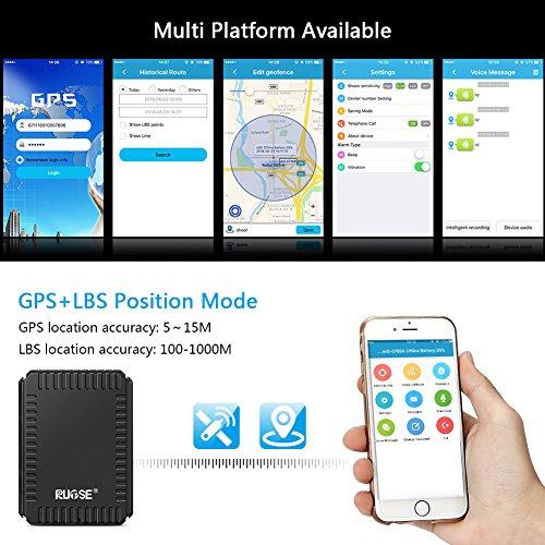 Koolertron GPS Tracker, Mini Portable Peilsender Magnet Echtzeit Tracking zur Diebstahlsicherung und Ortung, L