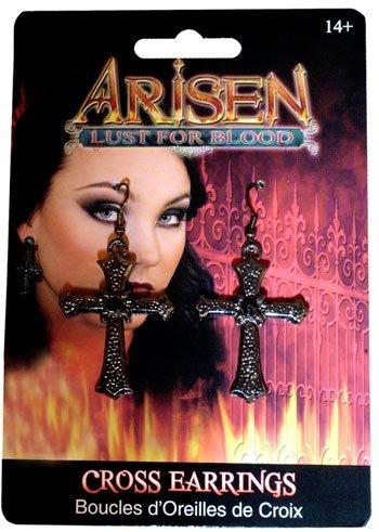 Gothic Kreuz Ohrringe (Die Böse Fee Königin Kostüm)