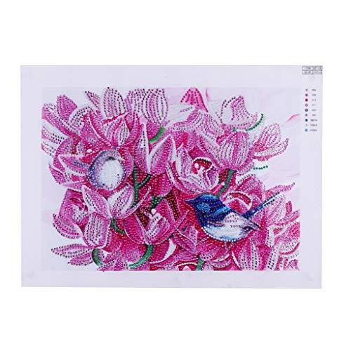 Myfilma ◔◡◔ Speziell geformte Blume Form Diamant Malerei DIY 5D Teilbohrer Kreuzstich Kits Kristall Verschiedene Formen 30x40cm / 30x30cm