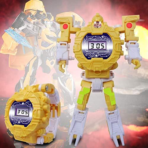 Kinder Uhren Transformers Spielzeug Elektronische Uhr Roboter Watch Lernspielzeug Gehirn Spiel für Kinder Jungen Mädchen
