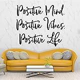 jiushizq Pretty Positive Attitude Wall Sticker Removable Self Adhesive Watercolo Nursery Room Decor Decoration Accessories Murals Black L 42cm X 47cm