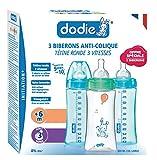 Dodie Lot de 3 Biberons Initiation + Tétine Débit 3 - 330 ml