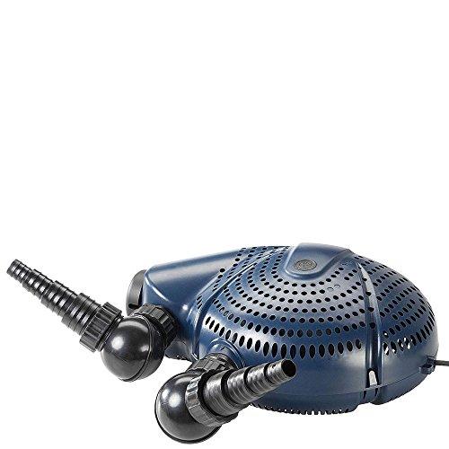 FIAP 2732 Aqua Active Profi 8.000, Teichpumpe, Filter- und Bachlaufpumpe, separat regelbarer Skimmeranschluss