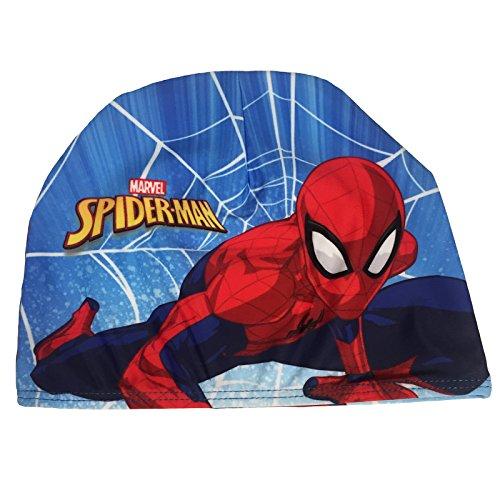Cuffia nuoto mare piscina spiderman bambino in tessuto elasticizzato