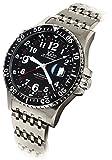 Xezo Air Commando Divers Pilots - Reloj automático suizo GMT en edición limitada con movimiento ETA 2893-2, resistencia al agua hasta 30 ATM y triple huso horario.