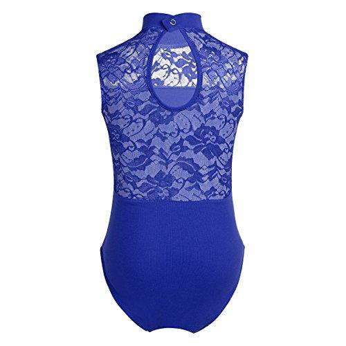 iixpin Kinder Mädchen Ballettanzug Ärmellos Body Trikot Leotard Gymnastikanzug in China Etuikleid Stil Blau 158-164/13-14 Jahre