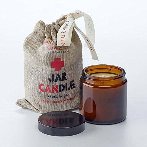 Basilikum Soja-kerze (Duftkerze Apotheca im Glas aus Soja-Wachs 'Brown Jar Candle' 100ml, Duft:Relaxation - Orange + Basilikum)