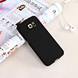 #5: CEDO 360 Degree Full Body Protection Front & Back Case Cover (iPaky Style) for Samsung Galaxy S6 Edge With Screen Protector buff (Black)