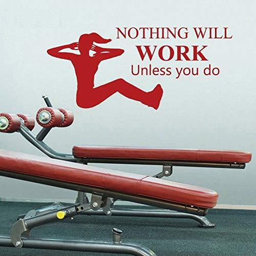 Tianpengyuanshuai Entwerfen Sie einfache Arbeit Sit-ups Fitness Vinyl Wandaufkleber Abziehbilder Gym Sport wasserdicht 27X30.6cm