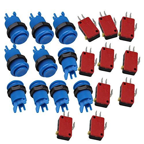 bqlzr-10x-durevole-blu-happ-arcade-video-gioco-con-pulsante-microinterruttore-per