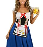 Halloween Kostüm Damen Faschings Karneval Kostüm Oktoberfest Tracht Kleidung Blau