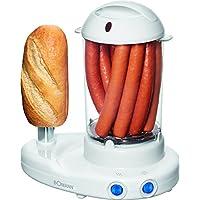 Bomann HDM 462EK CB N 2en 1–Maker de perritos calientes y Cuecehuevos en un, incluye jarra medidora con eipicker, color blanco