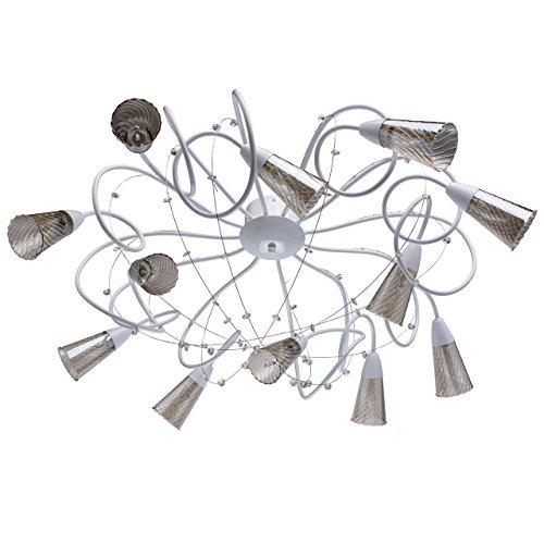 Industriedesign art-deco Deckenleuchte Kronleuchter xl modern weißes Metall