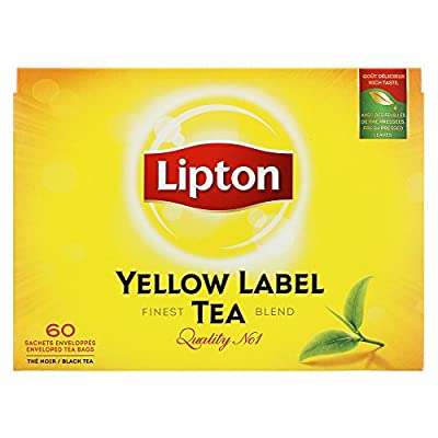 Lipton Thé Noir Yellow Label Tea x60 Sachets 120g
