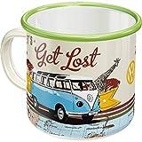 Nostalgic-Art 43211 - Volkswagen - VW Bulli - Let's Get Lost , Retro Emaille-Becher , Vintage Geschenk-Tasse , Outdoor Geschirr