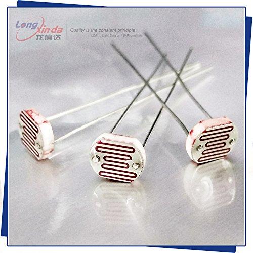 Fotowiderstand lxd7528/Dark Widerstand: 1mohm/Widerstand: 8–20kOhm 16.87mm Serie light-dependent Widerstand, 100