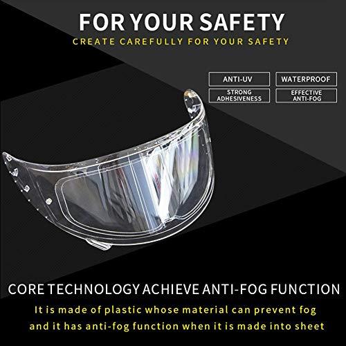 Freedomanoth Motorrad Helm Linse Anti Beschlag Folie Wasserdicht Universal Helm Anti Beschlag Visier Nebelvisier Brillen Schützen Sie Sehvermögen Und Augenhaut