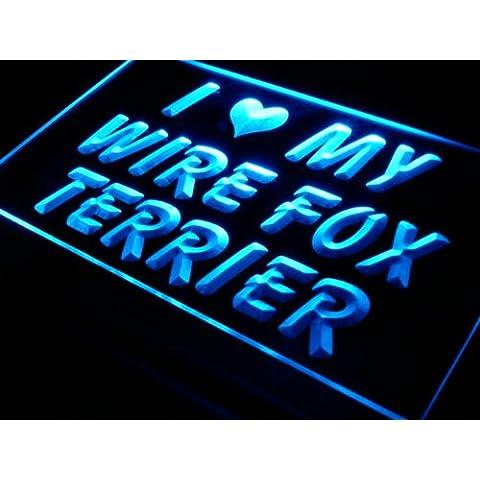 Insegna al neon s047-b I Love My Wire Fox Terrier Dog Neon Light Sign