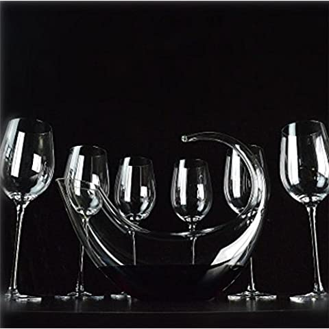 XJQ Decanter decanter di cristallo senza piombo a forma di u set professionale High-end vino vino vetro , j