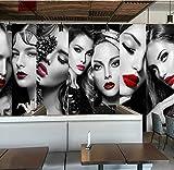 GONGFF Wandtattoos 3D Wallpaper (B) 350X (H) 256cm Stereoscopic Image Europäische Kosmetik Nagelstudio Friseursalon Wohnzimmer Schlafzimmer TV Wallpaper Wallpaper für Kinder Wandtapeten Zimmer 3D J