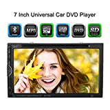 """KKmoon Double Din Car Bluetooth Stereo Universal HD 7.0"""" Touch Screen Car Stereo DVD Player Entertainment Unit"""