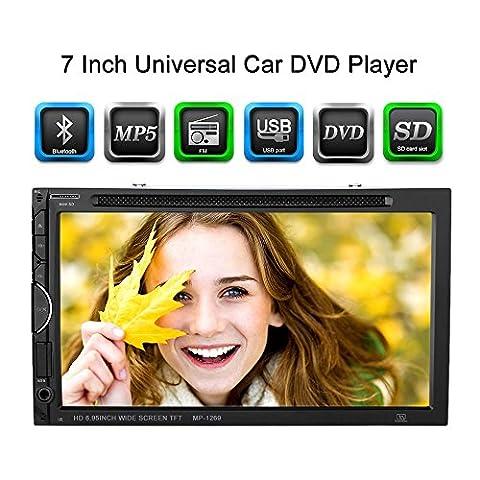 KKmoon 7inch 2 Din autoradios universel DVD/USB/SD lecteur HD belle