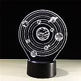 Planet 3D Lichter Bunte Fernbedienung Touch LED-Leuchten Seltsame Produkte Nachtlicht