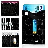 RFID Schutzhüllen I 18 Stück - XXL Set I 7+7 Kreditkarte Hüllen I 4 Reisepass Hüllen I Bankkarte I EC-Karte I Personalausweis I Blocking Schutz vor Auslesen &Kratzer I leichtgängig &dünn