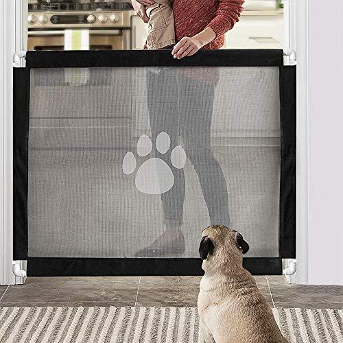 PETEMOO Cancelletto di Protezione per Cani e Scale, richiudibile, per Animali Domestici, 80 x 100 cm