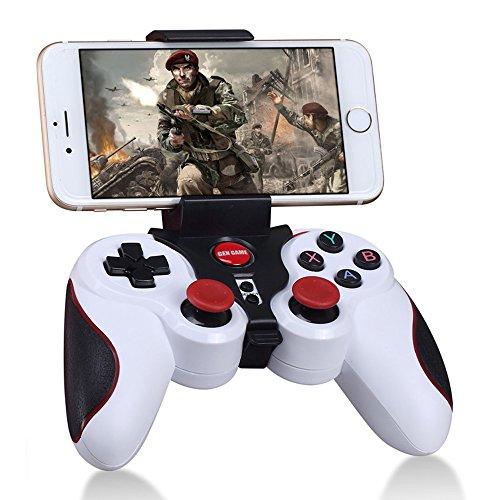 GEN GAME S5 Wireless Bluetooth Gamepad Game Controller mit Clip Halter für iOS Android – Weiß